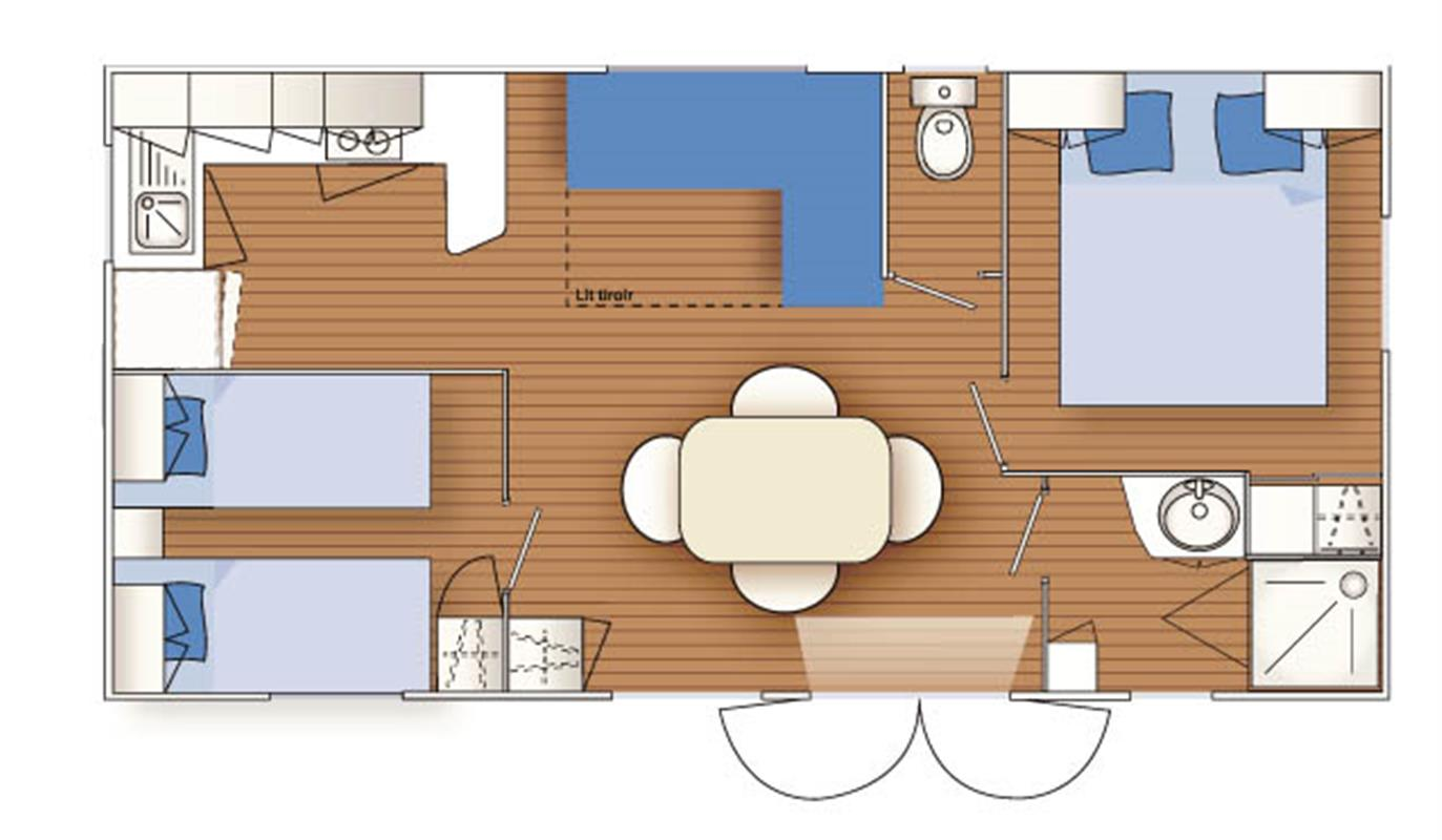 mobile home 2 bedr rent mobile home morbihan in south brittany rent mobile home sarzeau le. Black Bedroom Furniture Sets. Home Design Ideas